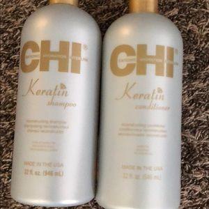Chi Keratin shampoo and conditioner